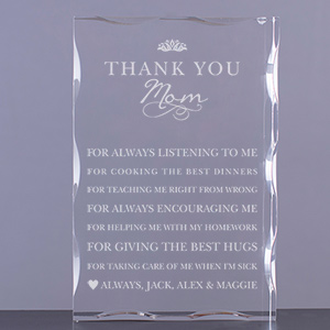 Personalized Thank You Mom Keepsake | Personalized Mother's Day Keepsakes