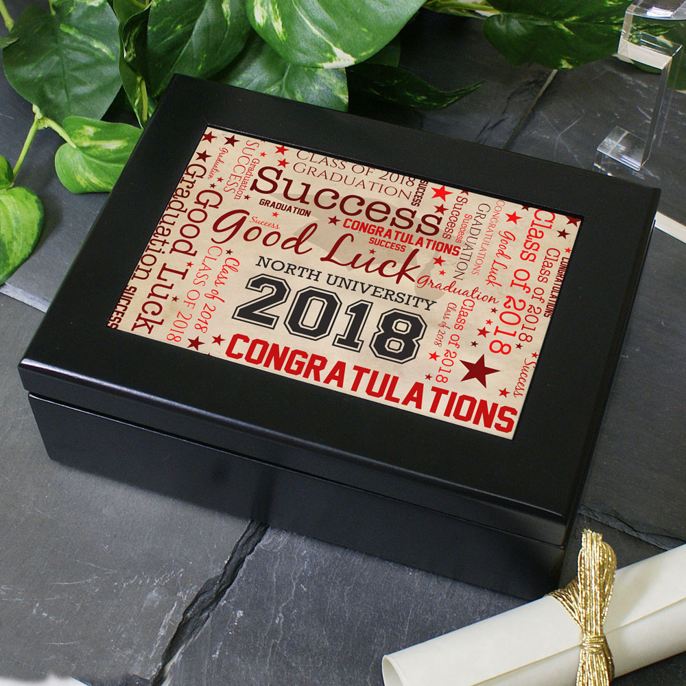Graduation Word-Art Keepsake Box | Graduate Gifts