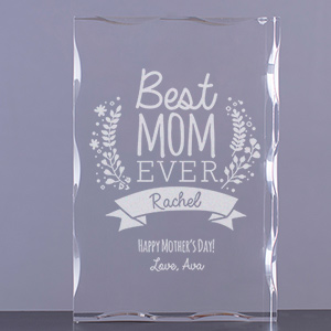 Engraved Best Mom Ever Acrylic Keepsake | Custom Gifts For Mom