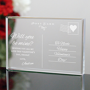 Personalized Postcard Keepsake | Personalized Valentines Day Gifts For Her
