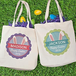 Bunny Ears Personalized Tote Bag