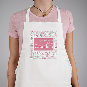 Personalized Favorite People Word-Art Apron