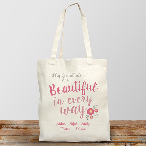 Personalized Beautiful in Every Way Canvas Tote Bag | Mother's Day Gifts