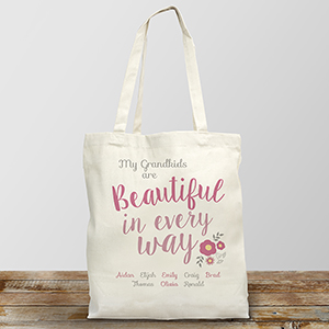 Personalized Beautiful in Every Way Canvas Tote Bag 8101792