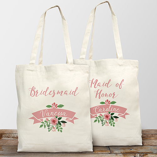 Personalized Bridal Party Tote Bag | Personalized Bridesmaid Bags
