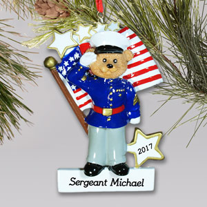 U.S. Marines Ornament | Personalized Military Christmas Ornaments