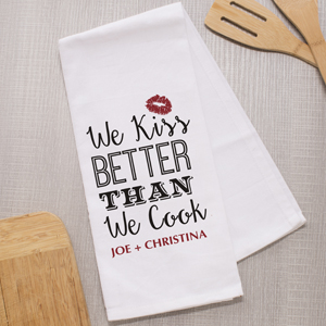 Personalized I Kiss Better Than I Cook Towel 8110379