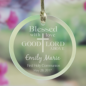 Engraved Blessed First Communion Suncatcher