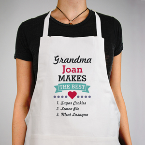 Personalized Grandma Makes the Best Apron | Mother's Day Gifts For Grandma