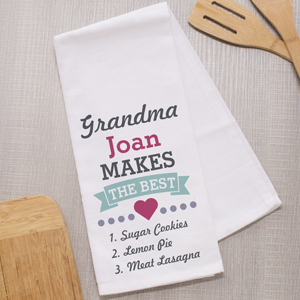 Personalized Grandma Makes the Best Dish Towel | Mother's Day Gifts