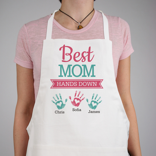 Personalized Best Mom Hands Down Apron | Personalized Apron