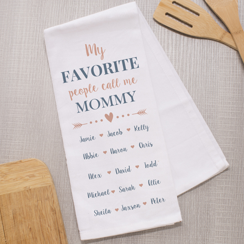 Personalized My Favorite People Call Me Dish Towel | Mother's Day Gifts
