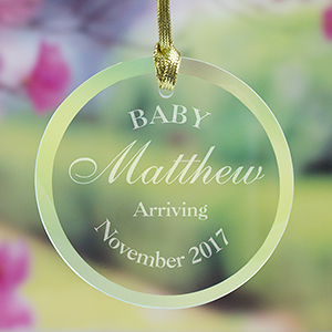 Engraved Baby Suncatcher 8113684R
