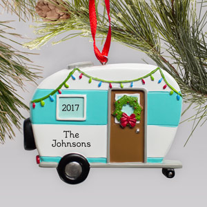 Engraved Happy Camper Ornament | Personalized Camping Ornaments
