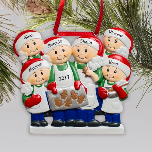 Personalized Family Baking Ornament | Personalized Family Ornaments