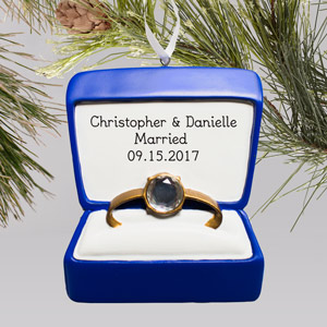 Engraved Engagement Ornament | Personalized Engagement Ornament