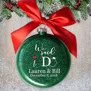 Personalized We Said I Do Glass Ornament | Personalized Wedding Ornaments
