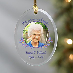 Personalized Our Hearts Forever Memorial Ornament | Personalized Memorial Ornaments