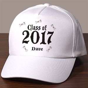 Personalized White Class of Graduation Hat