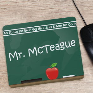 Personalized Teacher Mouse Pad -Chalkboard-