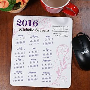 Personalized Inspirational Quotation Calendar Mouse Pad