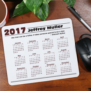 Personalized Quotation Calendar Mouse Pad