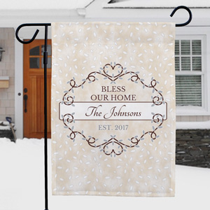 Personalized Bless Our Home Garden Flag | New Home Gifts