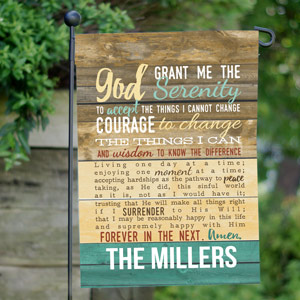 Personalized Serenity Prayer Garden Flag