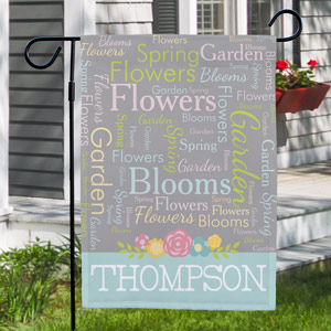 Family Garden Flag | Personalized Spring Gifts