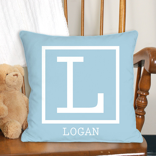 Baby Monogram Personalized Throw Pillow | Personalized Gifts for Kids