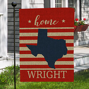 Personalized Home State outdoor Garden Flag