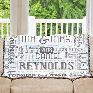 Wedding Word-Art Afghan | Personalized Afghan