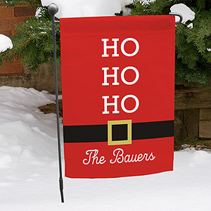 Personalized Santa Garden Flag 830108022X