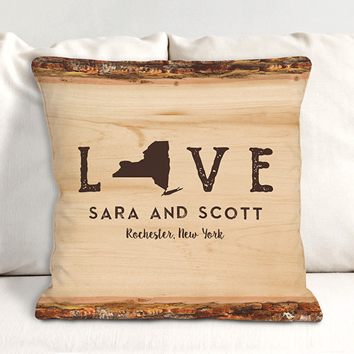 Personalized Love Established Throw Pillow | Housewarming Gift Ideas