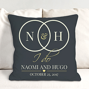 Personalized I Do Throw Pillow 830110053