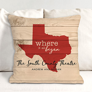 Personalized Where It All Began Throw Pillow | Personalized Housewarming Gifts