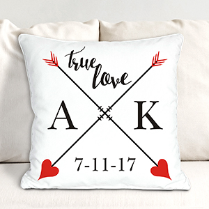 Personalized True Love Throw Pillow 830993913X