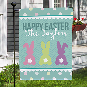 Personalized Bunny Tails Garden Flag 830111492X