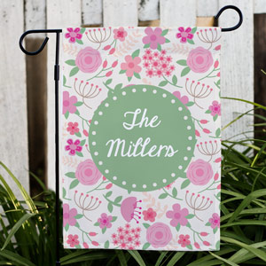 Personalized Family Floral Garden Flag | Spring Flags