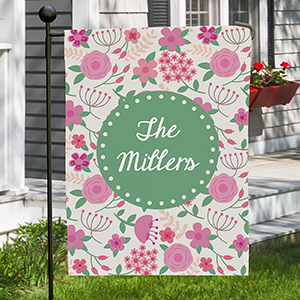 Personalized Floral Family Garden Flag 830111502X