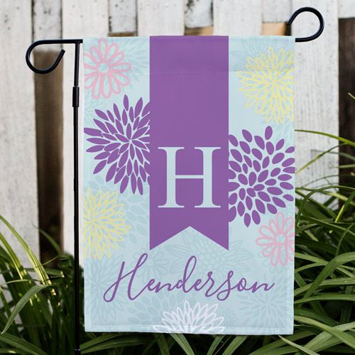 Abstract Floral Personalized Garden Flag | Personalized Housewarming Gifts