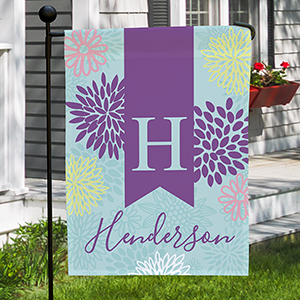 Personalized Abstract Floral Garden Flag 830111512X