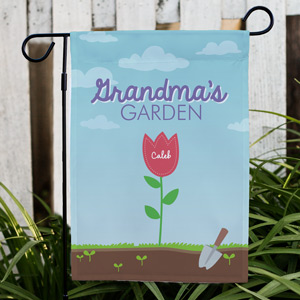 Personalized Grandma's Garden Yard Flag | Personalized Gifts for Grandma