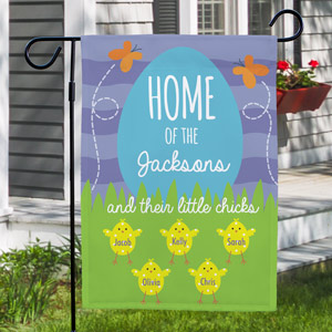 Family Home Of Personalized Garden Flag | Spring Flags