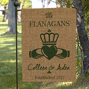 Personalized Irish Burlap Garden Flag 830111942BX