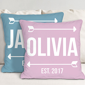 Personalized Baby Arrows Throw Pillow | Personalized Throw Pillows