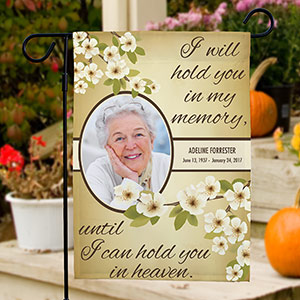 Personalized Hold You In My Memory Memorial Flag | Memorial Garden Flags