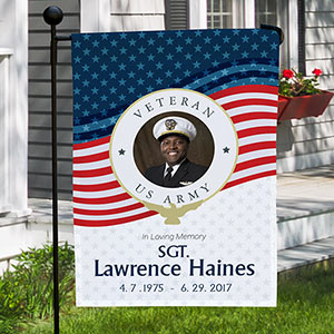 Personalized Veteran Memorial Garden Flag | Personalized Garden Flag