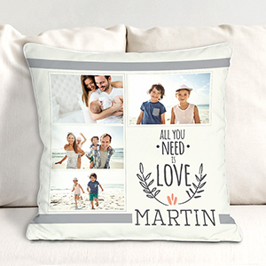 Personalized All You Need Is Love Throw Pillow 830120033X