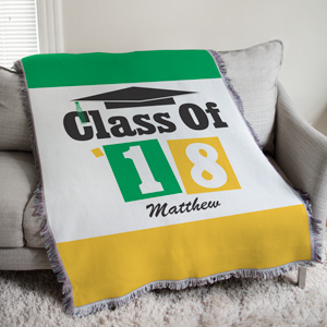 Personalized Class Of Tapestry Throw Blanket | Graduate Gifts